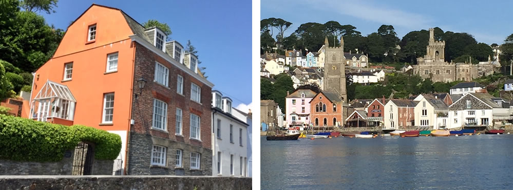 Coomber House and The Town of Fowey