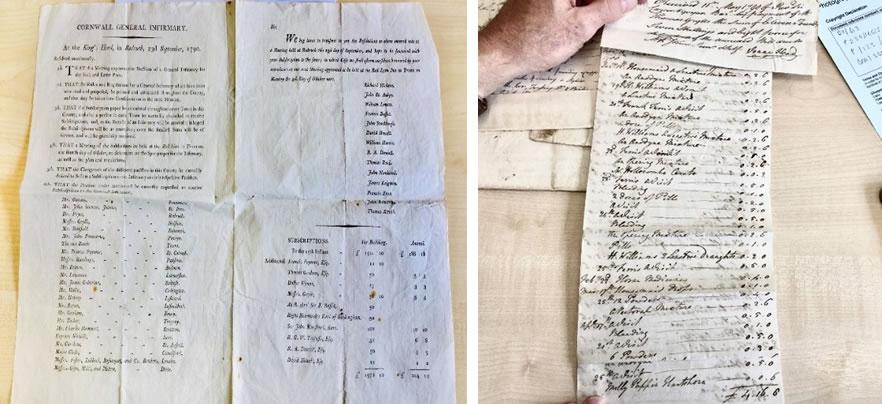 Hand Written Bills adn Printed Names