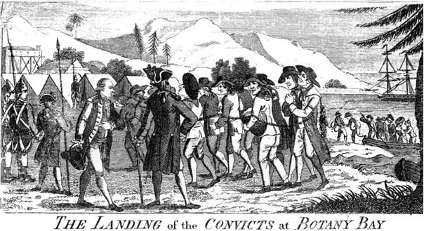 Landing of the convicts