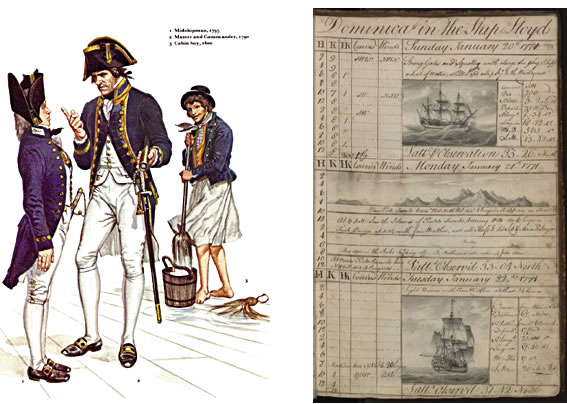 Offiers Uniform and Ships Log