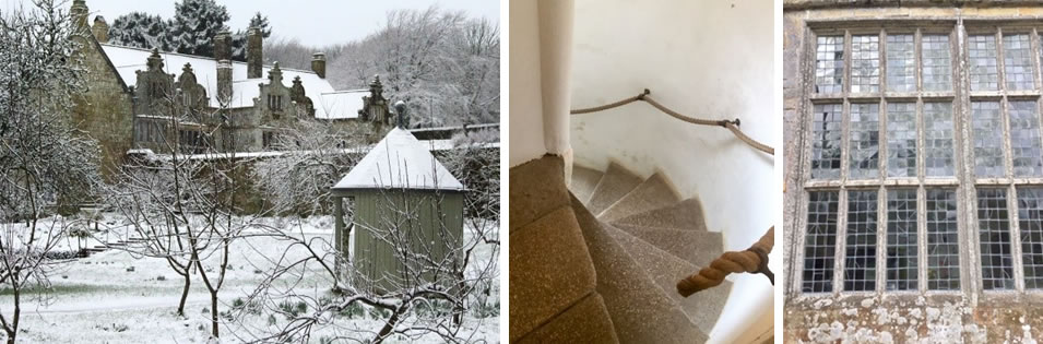 Snowy House - Spiral Stairs - Large Window