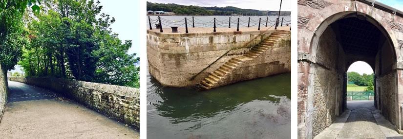 Walkway, Steps in Harbour, Slipway
